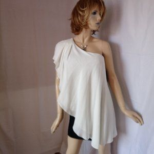 Nwt $168 AQUA Colorblock Stretchy Cape Dress Sz 8